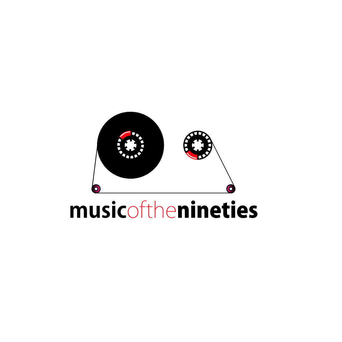 Logo Design by ex - Entry No. 17 in the Logo Design Contest Music of the Nineties Logo.