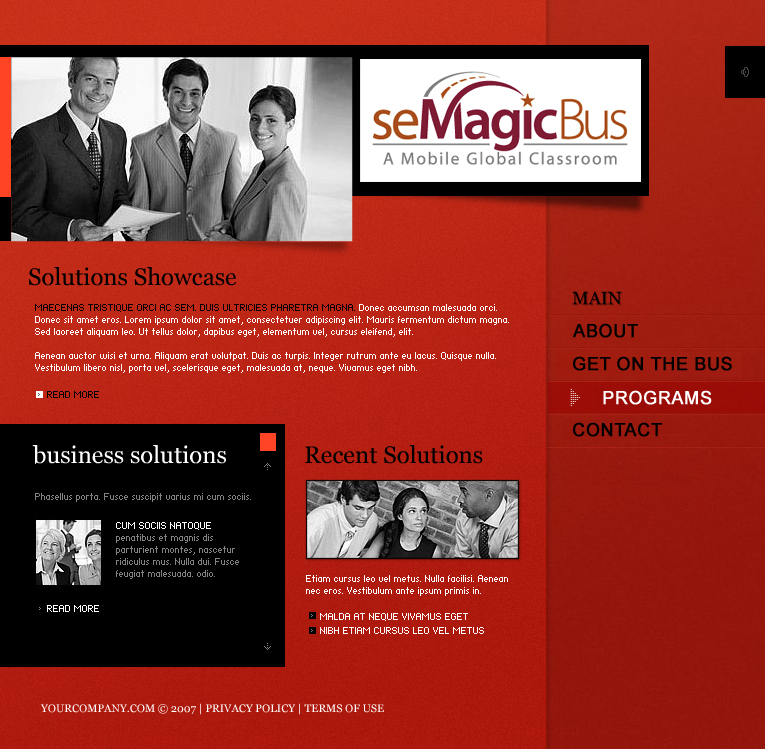 Web Page Design by tsyrette - Entry No. 1 in the Web Page Design Contest seMagicBus Website.