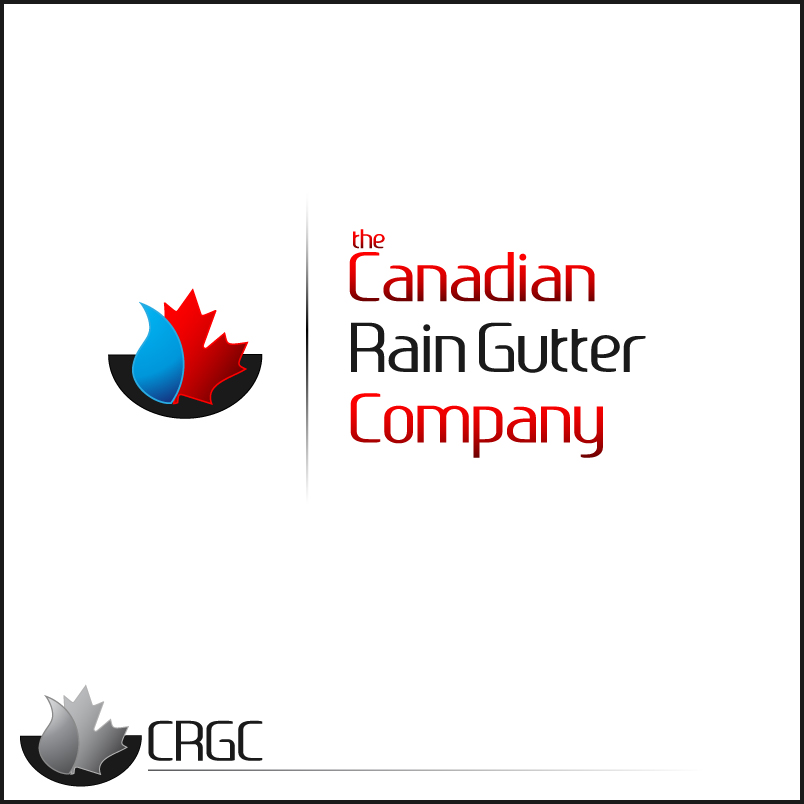 Logo Design by trav - Entry No. 32 in the Logo Design Contest The Canadian Rain Gutter Company.