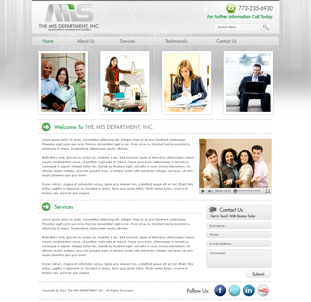 Web Page Design by Rock-Solely - Entry No. 103 in the Web Page Design Contest MIS (public website) – IT and Management consulting firm.