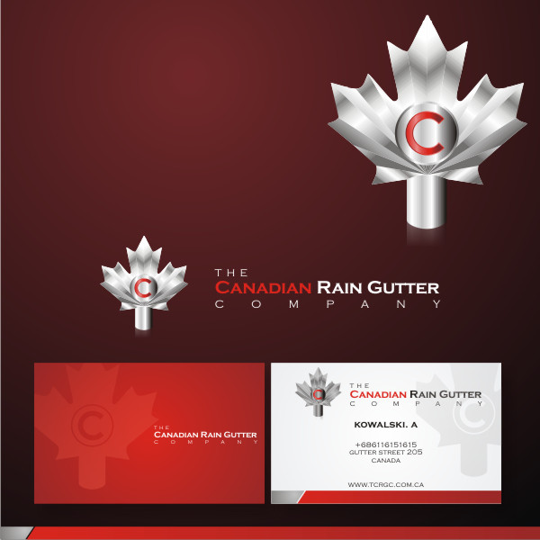 Logo Design by fr - Entry No. 40 in the Logo Design Contest The Canadian Rain Gutter Company.