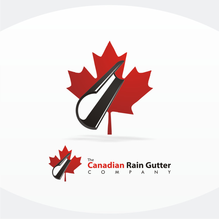 Logo Design by Private User - Entry No. 44 in the Logo Design Contest The Canadian Rain Gutter Company.