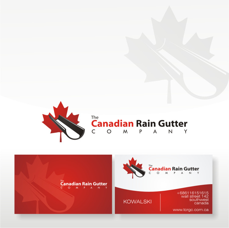 Logo Design by Private User - Entry No. 45 in the Logo Design Contest The Canadian Rain Gutter Company.