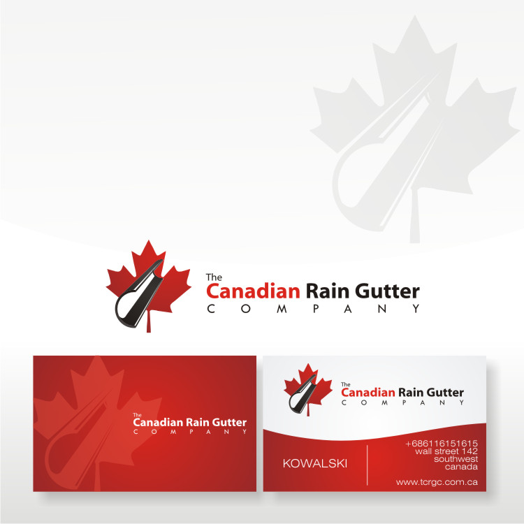 Logo Design by Private User - Entry No. 47 in the Logo Design Contest The Canadian Rain Gutter Company.