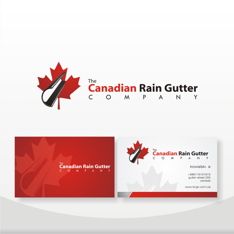 Logo Design by Private User - Entry No. 48 in the Logo Design Contest The Canadian Rain Gutter Company.