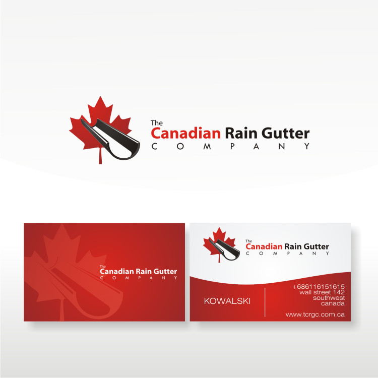 Logo Design by Private User - Entry No. 49 in the Logo Design Contest The Canadian Rain Gutter Company.