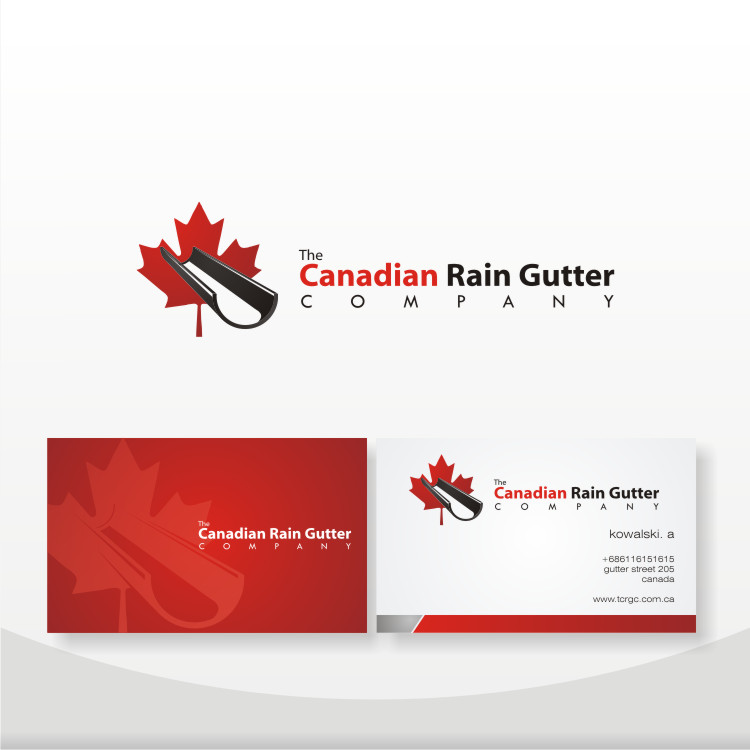 Logo Design by Private User - Entry No. 50 in the Logo Design Contest The Canadian Rain Gutter Company.