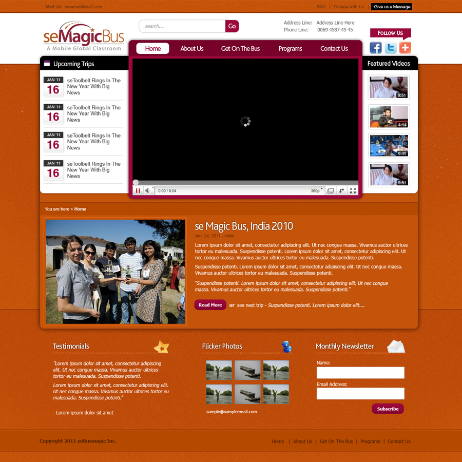 Web Page Design by rockpinoy - Entry No. 3 in the Web Page Design Contest seMagicBus Website.
