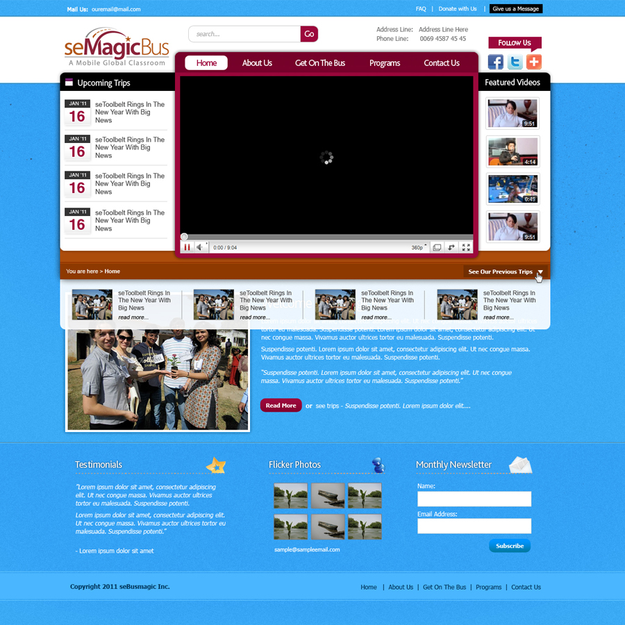 Web Page Design by rockpinoy - Entry No. 5 in the Web Page Design Contest seMagicBus Website.