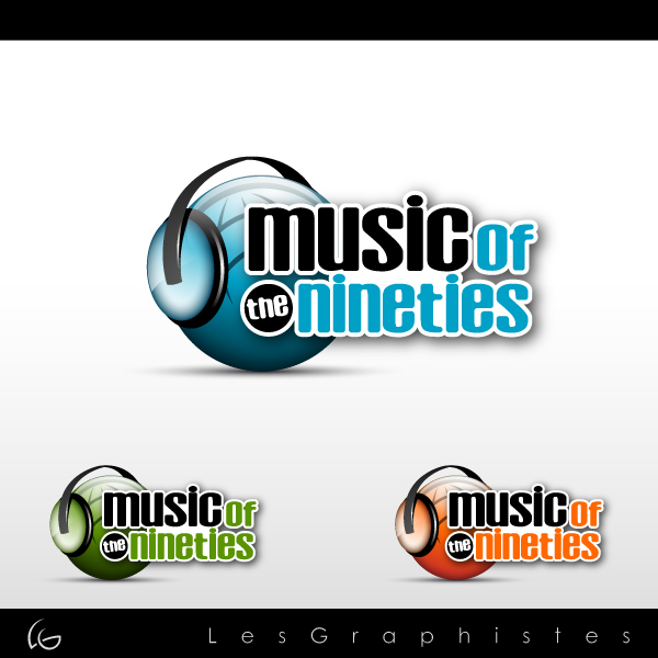 Logo Design by Les-Graphistes - Entry No. 43 in the Logo Design Contest Music of the Nineties Logo.