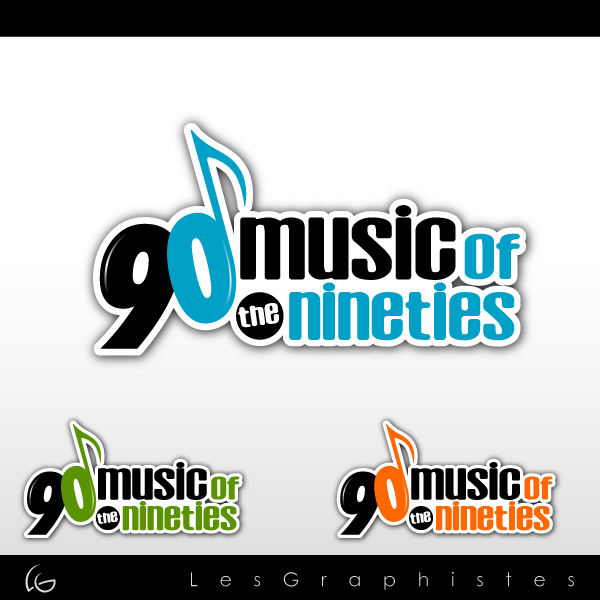 Logo Design by Les-Graphistes - Entry No. 44 in the Logo Design Contest Music of the Nineties Logo.