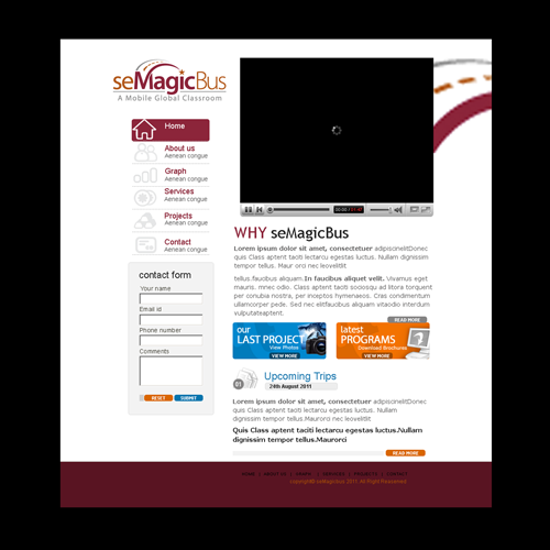 Web Page Design by keekee360 - Entry No. 6 in the Web Page Design Contest seMagicBus Website.