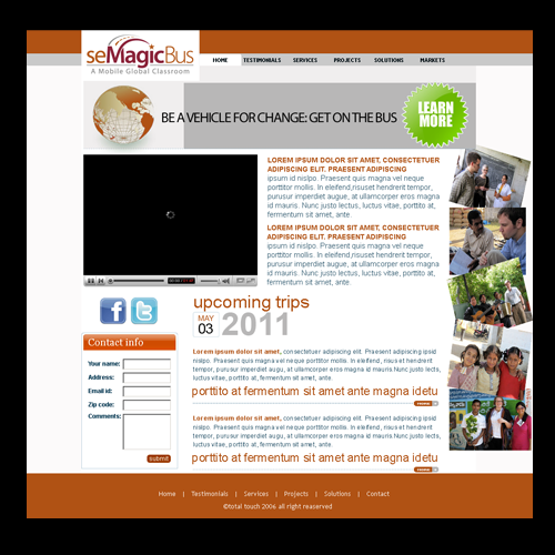 Web Page Design by keekee360 - Entry No. 7 in the Web Page Design Contest seMagicBus Website.