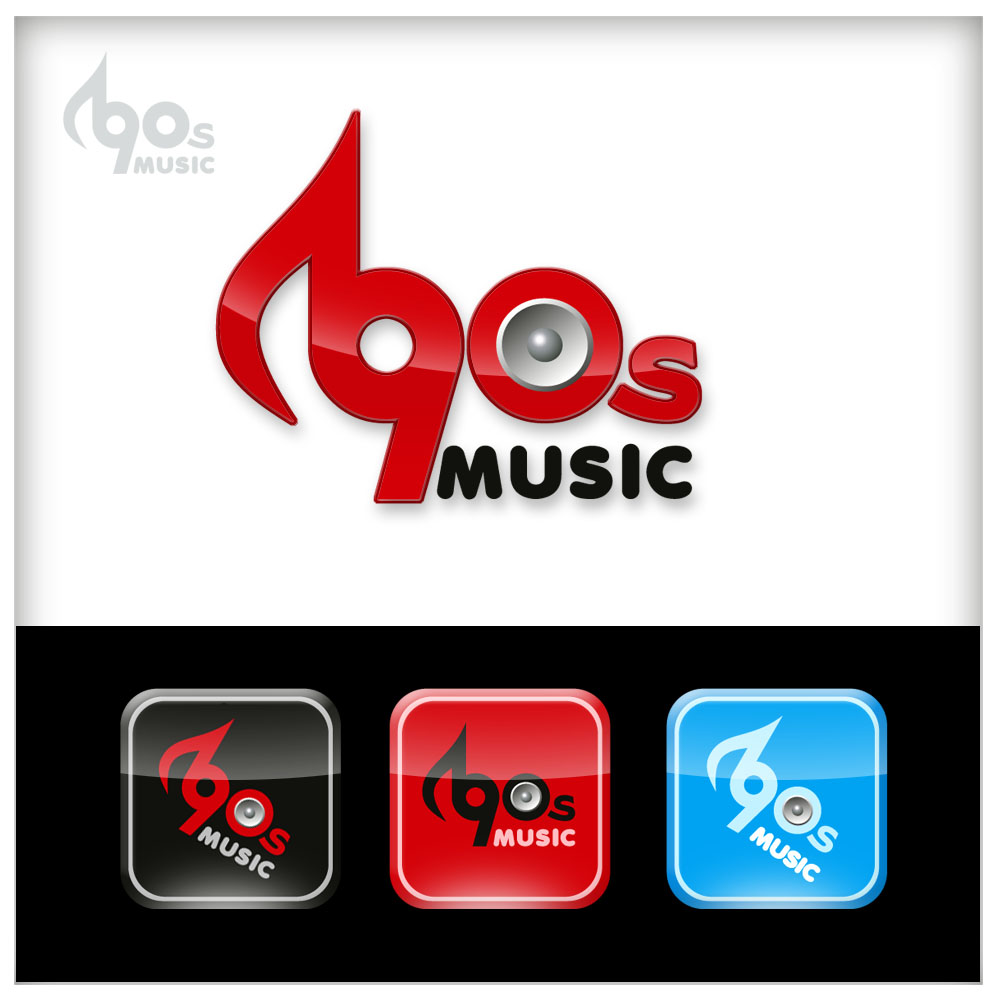 Logo Design by Adrian Chambre - Entry No. 50 in the Logo Design Contest Music of the Nineties Logo.