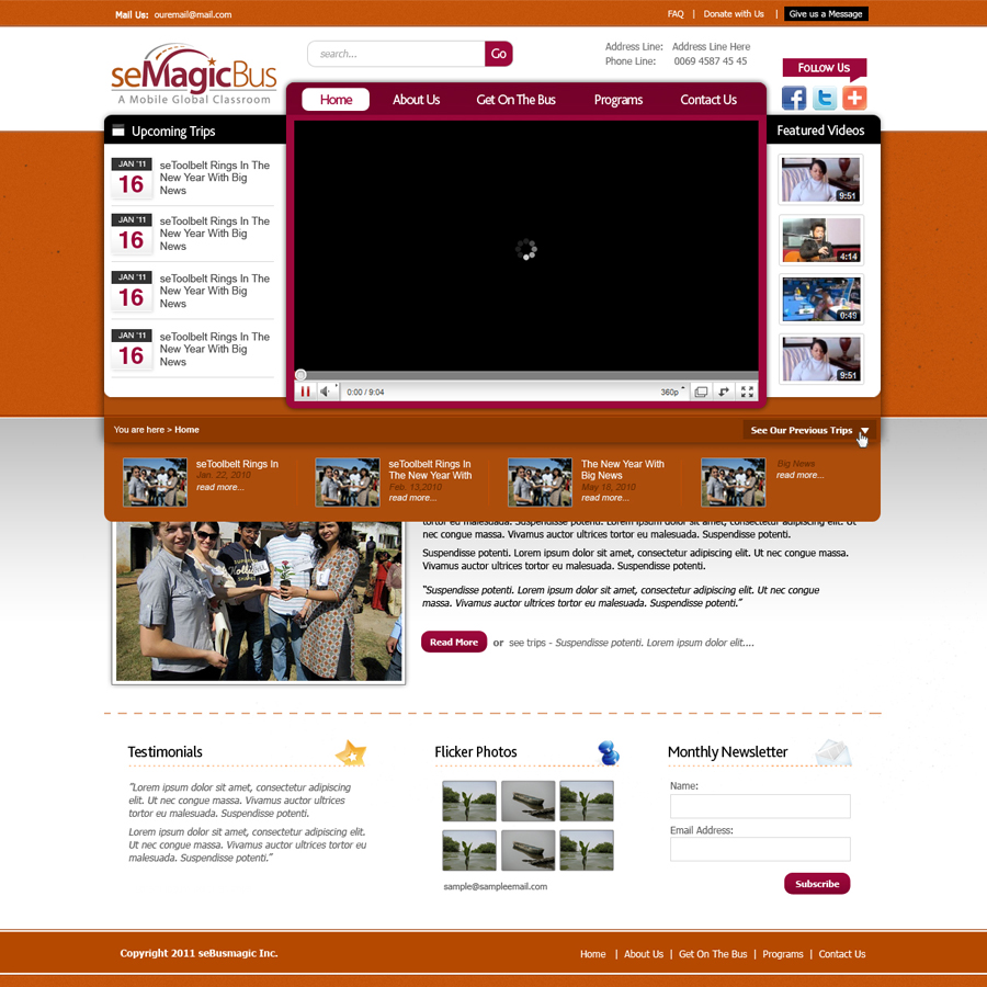 Web Page Design by rockpinoy - Entry No. 8 in the Web Page Design Contest seMagicBus Website.