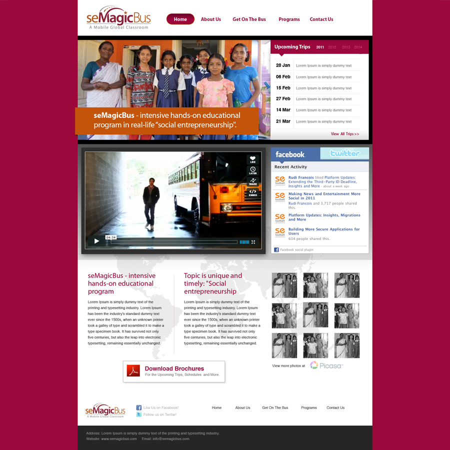 Web Page Design by red46 - Entry No. 9 in the Web Page Design Contest seMagicBus Website.