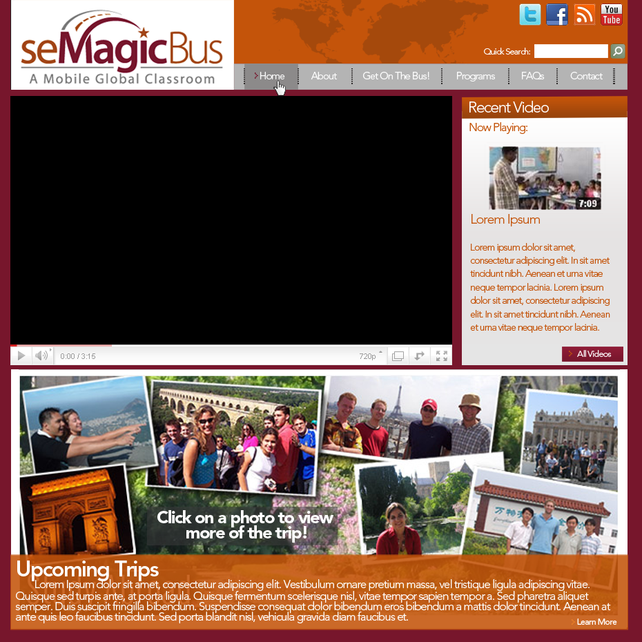 Web Page Design by bambino - Entry No. 10 in the Web Page Design Contest seMagicBus Website.