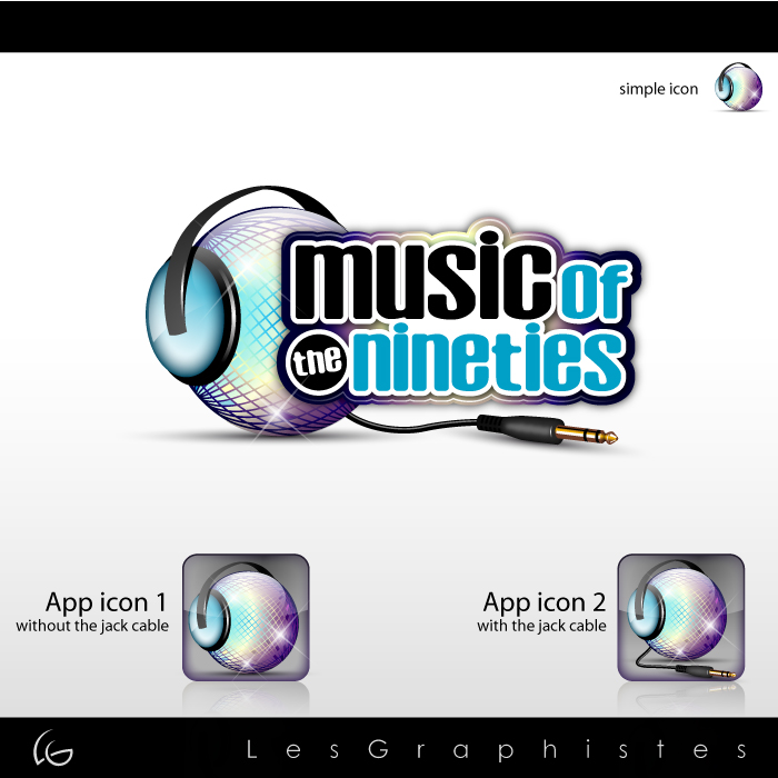 Logo Design by Les-Graphistes - Entry No. 51 in the Logo Design Contest Music of the Nineties Logo.