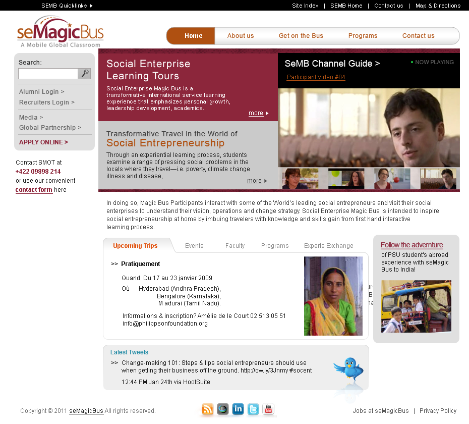 Web Page Design by Mithra  Ravindran - Entry No. 13 in the Web Page Design Contest seMagicBus Website.