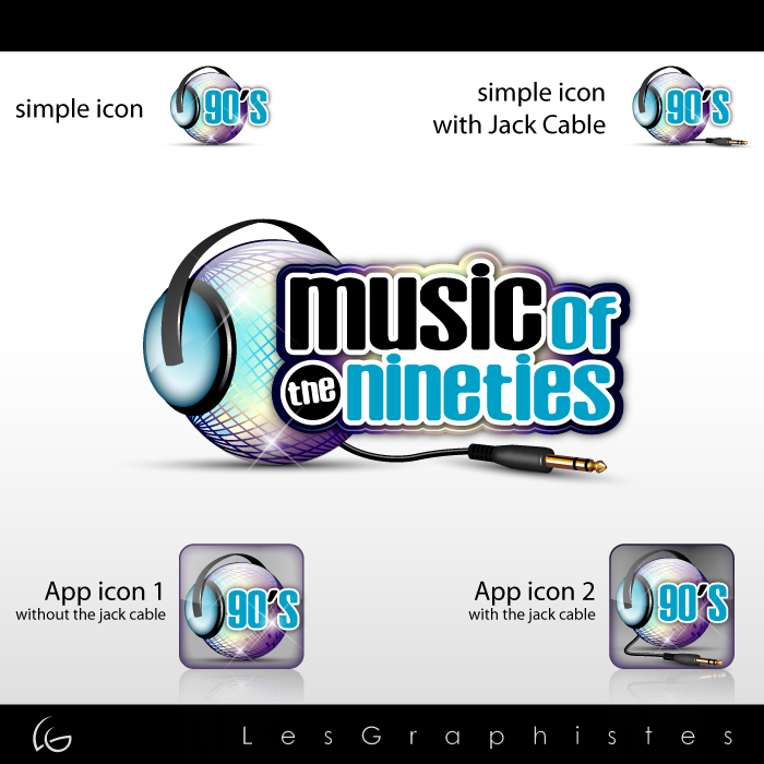 Logo Design by Les-Graphistes - Entry No. 62 in the Logo Design Contest Music of the Nineties Logo.