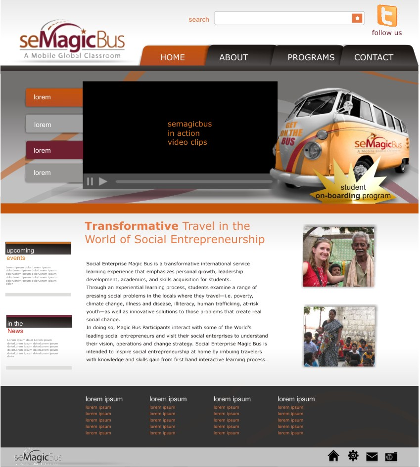 Web Page Design by haricane - Entry No. 14 in the Web Page Design Contest seMagicBus Website.
