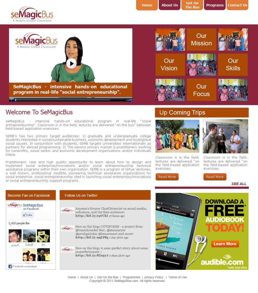 Web Page Design by Shahzad Asim - Entry No. 15 in the Web Page Design Contest seMagicBus Website.