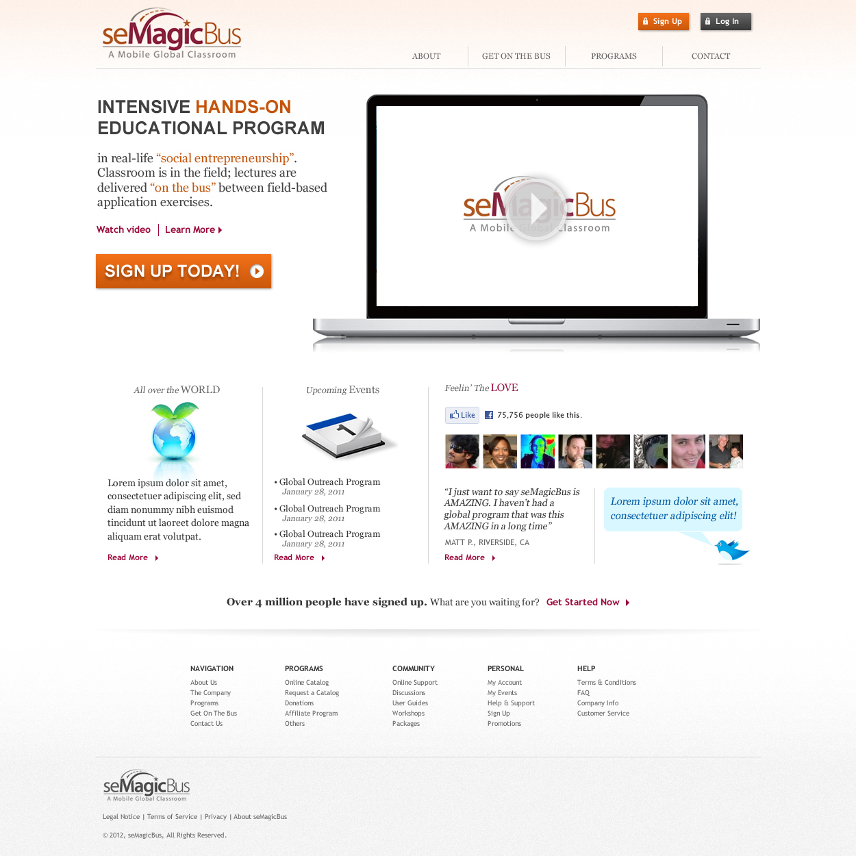 Web Page Design by johngabriel - Entry No. 16 in the Web Page Design Contest seMagicBus Website.