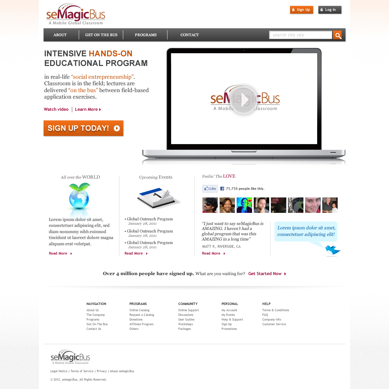 Web Page Design by johngabriel - Entry No. 18 in the Web Page Design Contest seMagicBus Website.