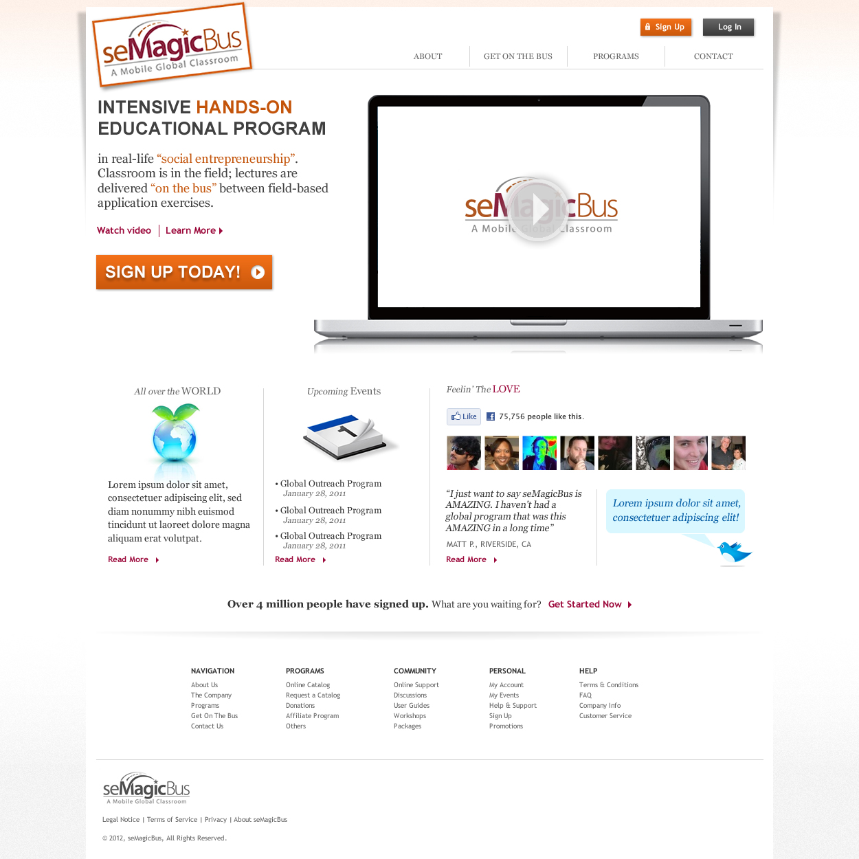 Web Page Design by johngabriel - Entry No. 19 in the Web Page Design Contest seMagicBus Website.