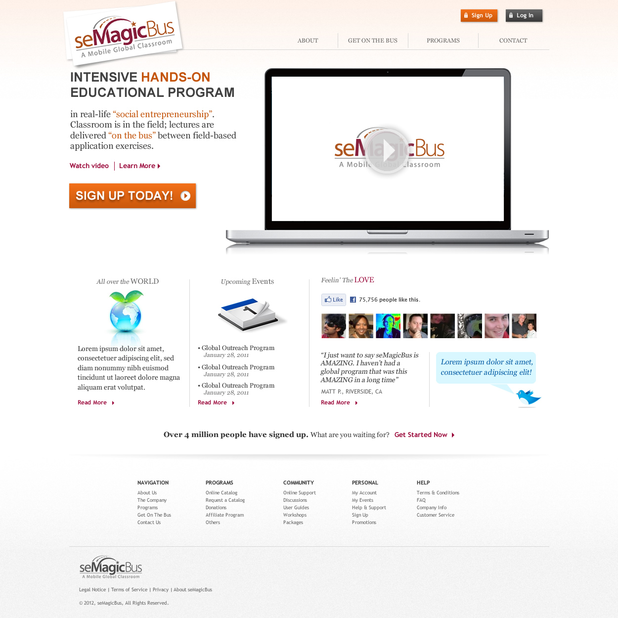 Web Page Design by johngabriel - Entry No. 20 in the Web Page Design Contest seMagicBus Website.