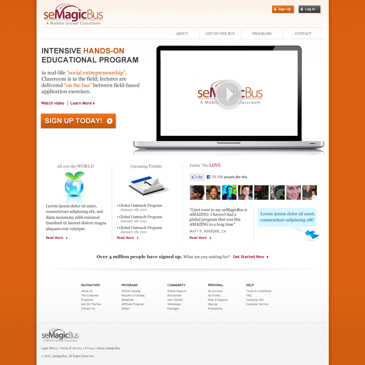 Web Page Design by johngabriel - Entry No. 21 in the Web Page Design Contest seMagicBus Website.