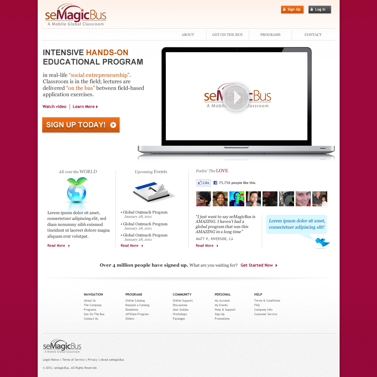 Web Page Design by johngabriel - Entry No. 22 in the Web Page Design Contest seMagicBus Website.