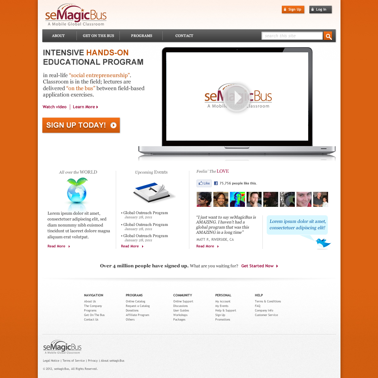 Web Page Design by johngabriel - Entry No. 23 in the Web Page Design Contest seMagicBus Website.