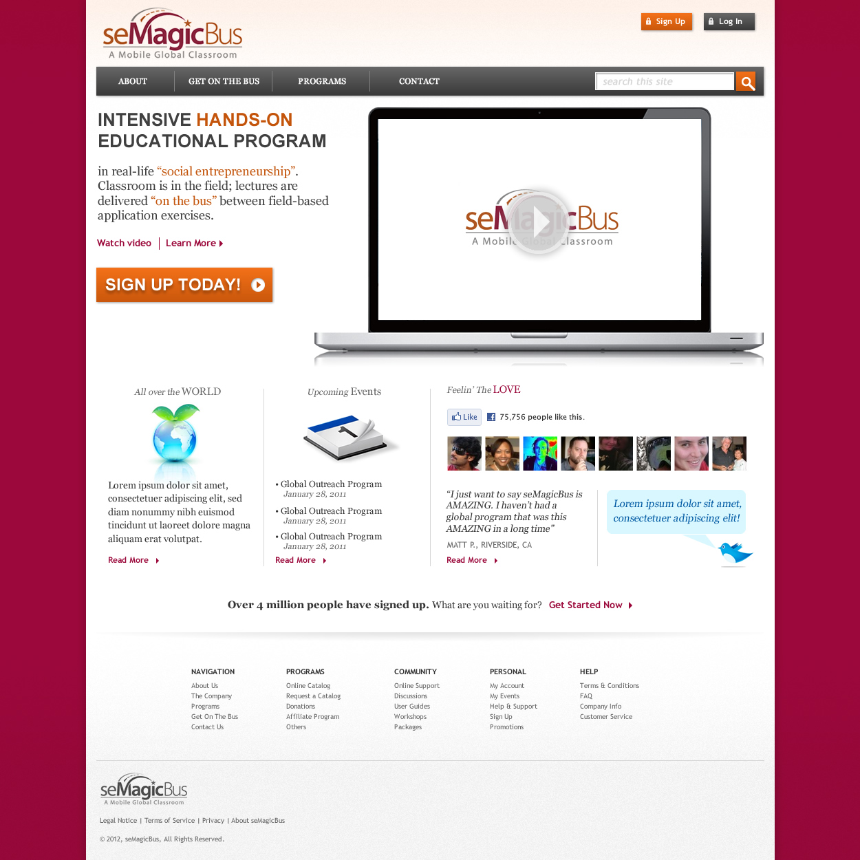 Web Page Design by johngabriel - Entry No. 24 in the Web Page Design Contest seMagicBus Website.