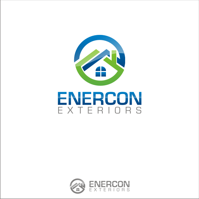 Logo Design by key - Entry No. 42 in the Logo Design Contest Enercon Exteriors.