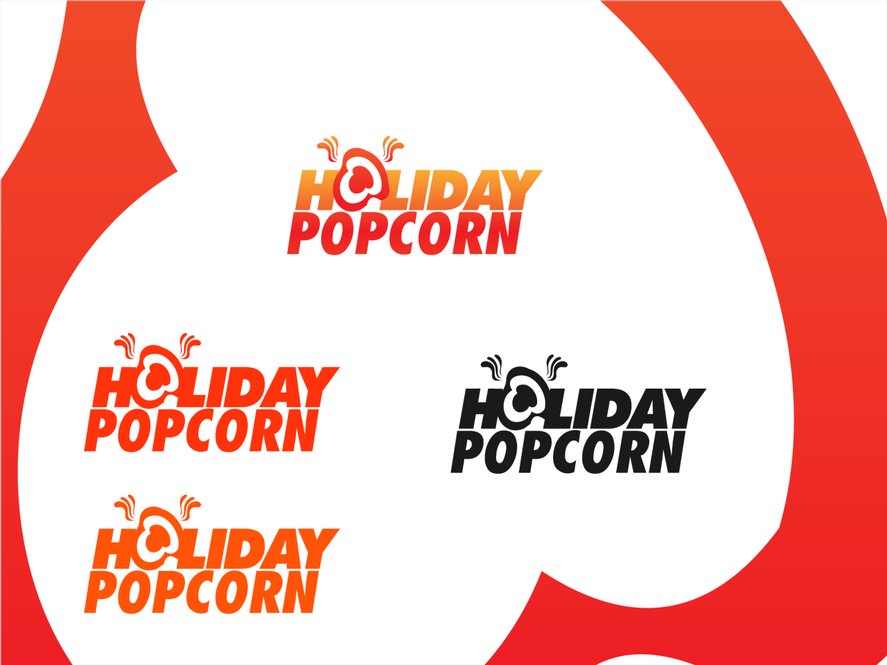 Logo Design by Mithra  Ravindran - Entry No. 8 in the Logo Design Contest Holiday Popcorn.