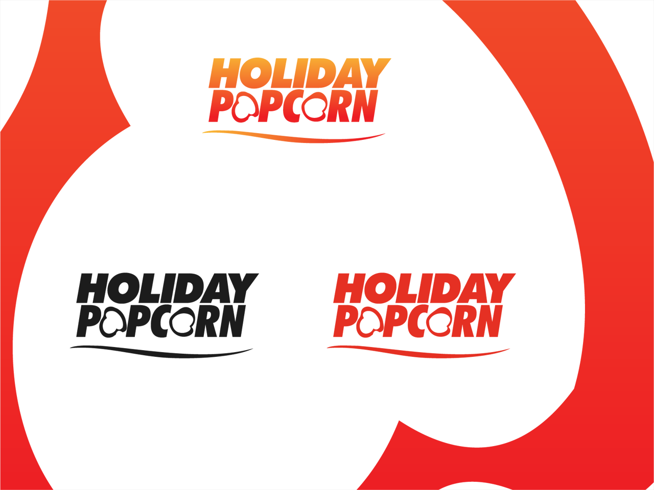 Logo Design by Mithra  Ravindran - Entry No. 9 in the Logo Design Contest Holiday Popcorn.