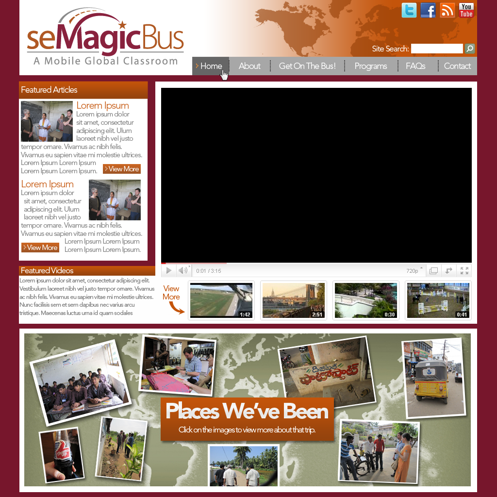 Web Page Design by bambino - Entry No. 25 in the Web Page Design Contest seMagicBus Website.
