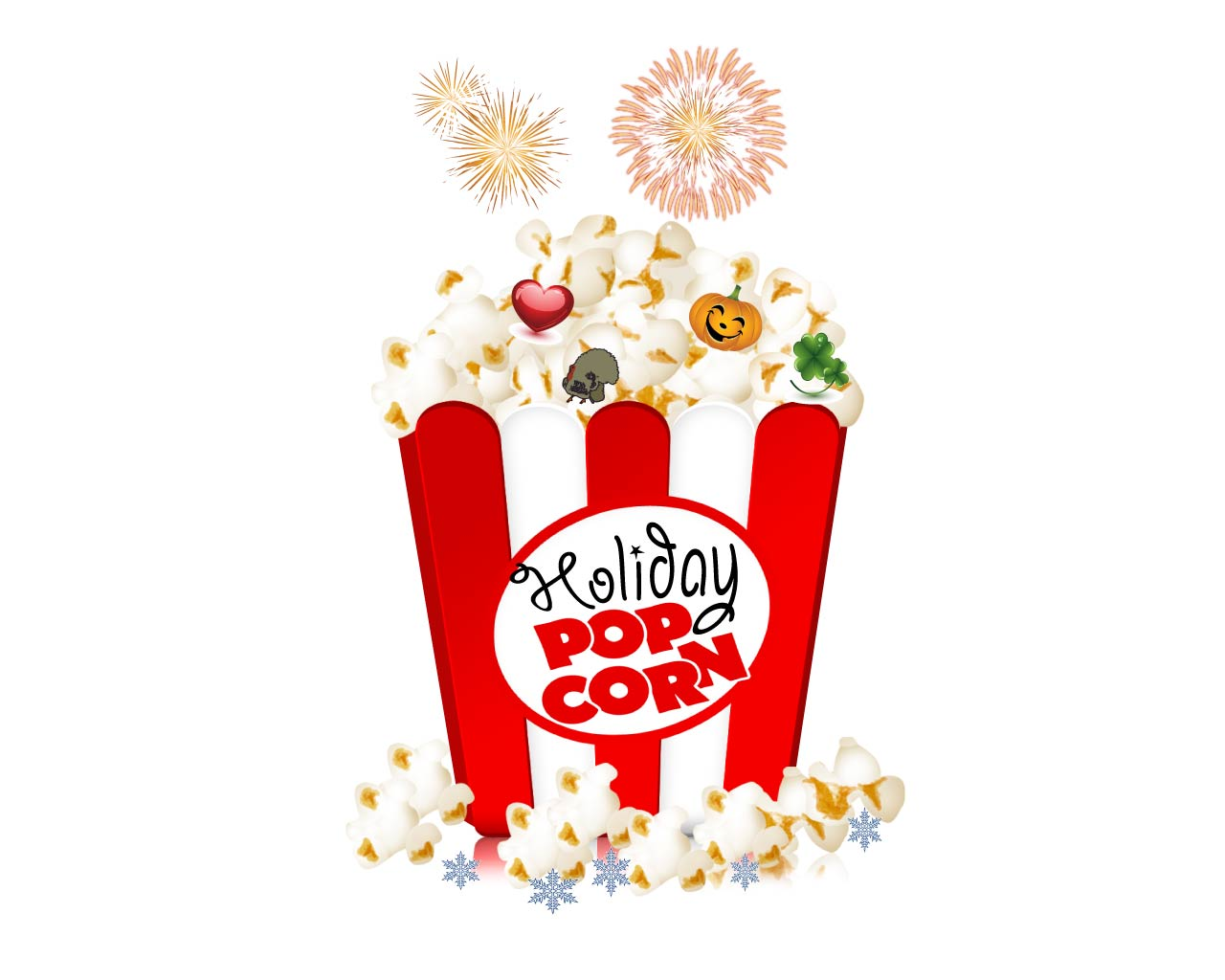 Logo Design by Saunter - Entry No. 12 in the Logo Design Contest Holiday Popcorn.
