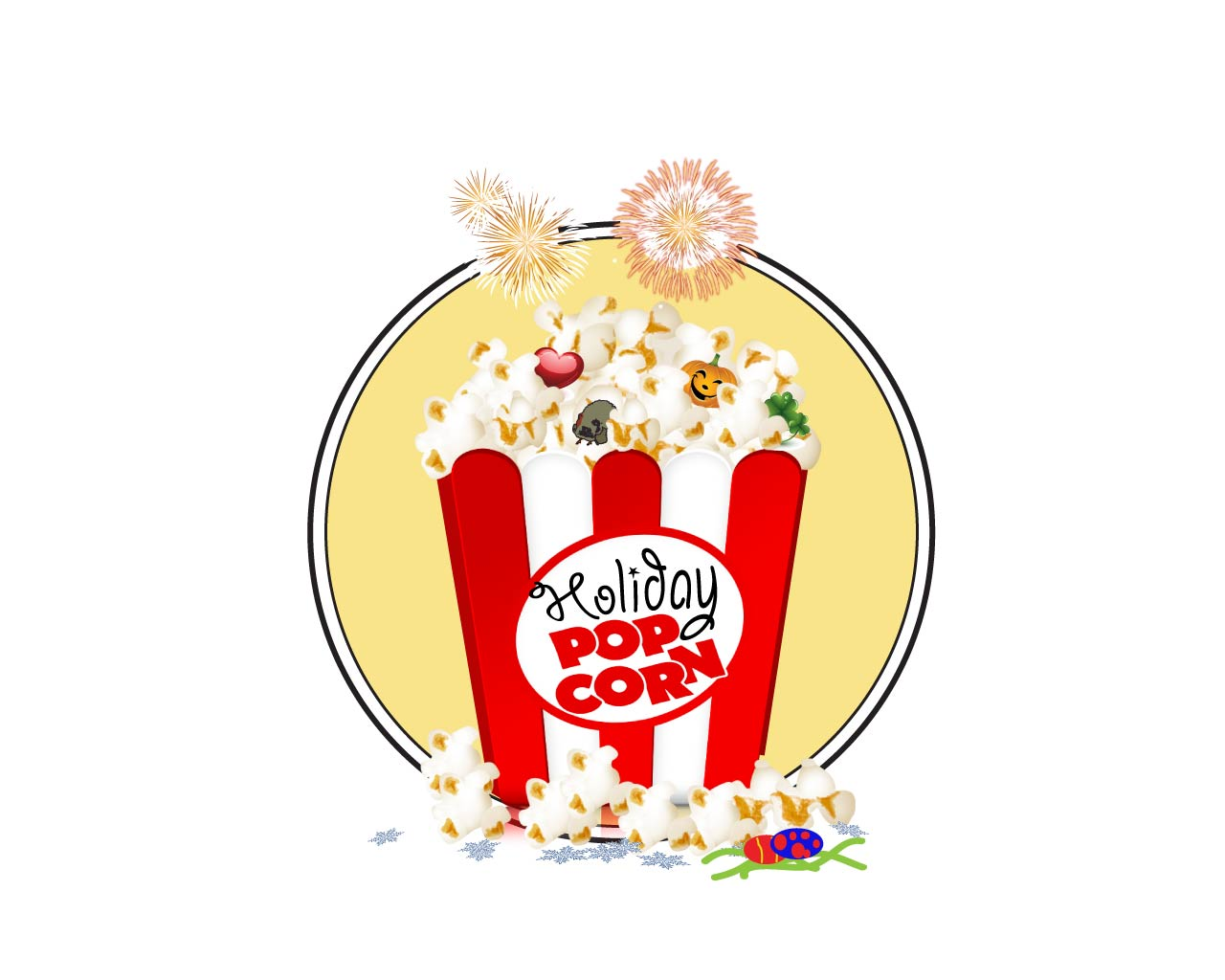 Logo Design by Saunter - Entry No. 13 in the Logo Design Contest Holiday Popcorn.