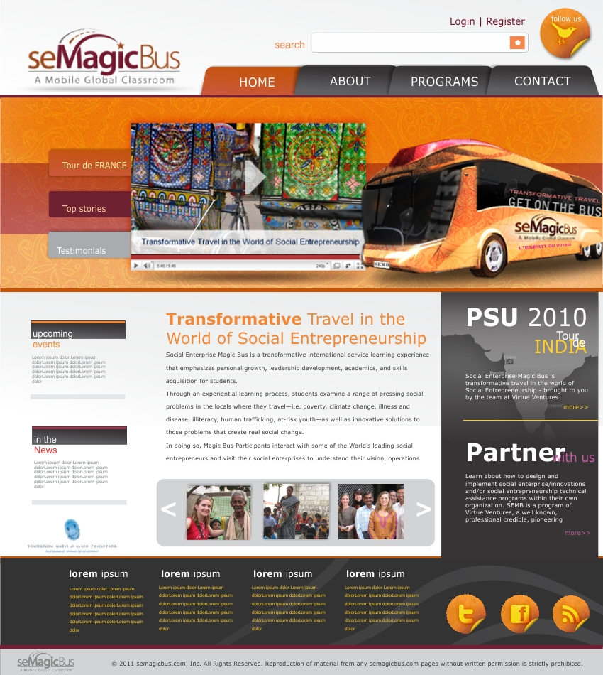 Web Page Design by haricane - Entry No. 26 in the Web Page Design Contest seMagicBus Website.