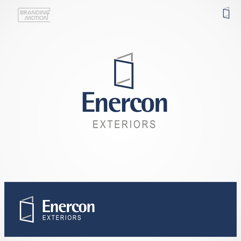 Logo Design by BrandingMotion - Entry No. 55 in the Logo Design Contest Enercon Exteriors.