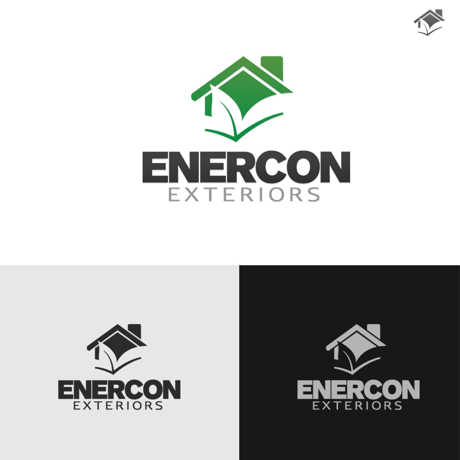 Logo Design by rockpinoy - Entry No. 56 in the Logo Design Contest Enercon Exteriors.