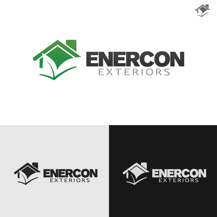Logo Design by rockpinoy - Entry No. 57 in the Logo Design Contest Enercon Exteriors.