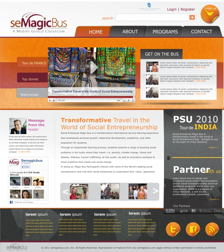 Web Page Design by haricane - Entry No. 29 in the Web Page Design Contest seMagicBus Website.