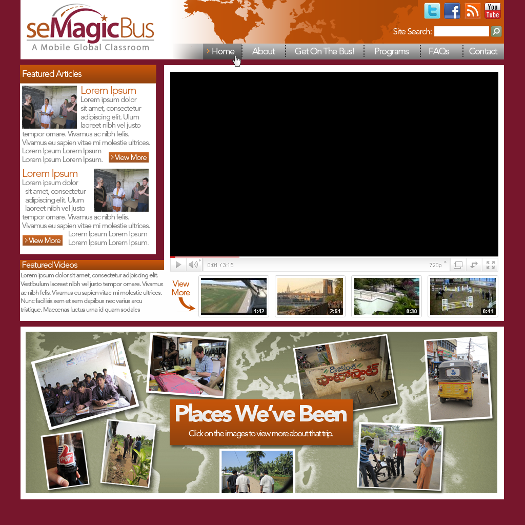 Web Page Design by bambino - Entry No. 30 in the Web Page Design Contest seMagicBus Website.