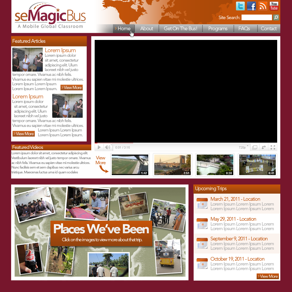 Web Page Design by bambino - Entry No. 31 in the Web Page Design Contest seMagicBus Website.