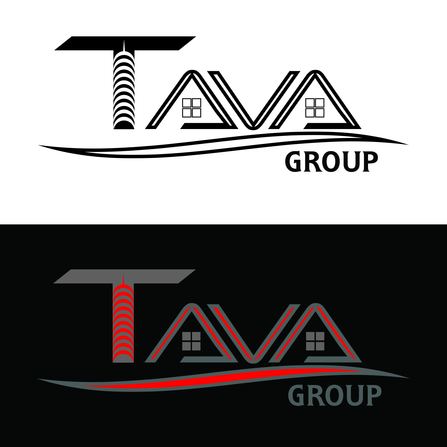 Logo Design by Umair ahmed Iqbal - Entry No. 185 in the Logo Design Contest Creative Logo Design for Tava Group.