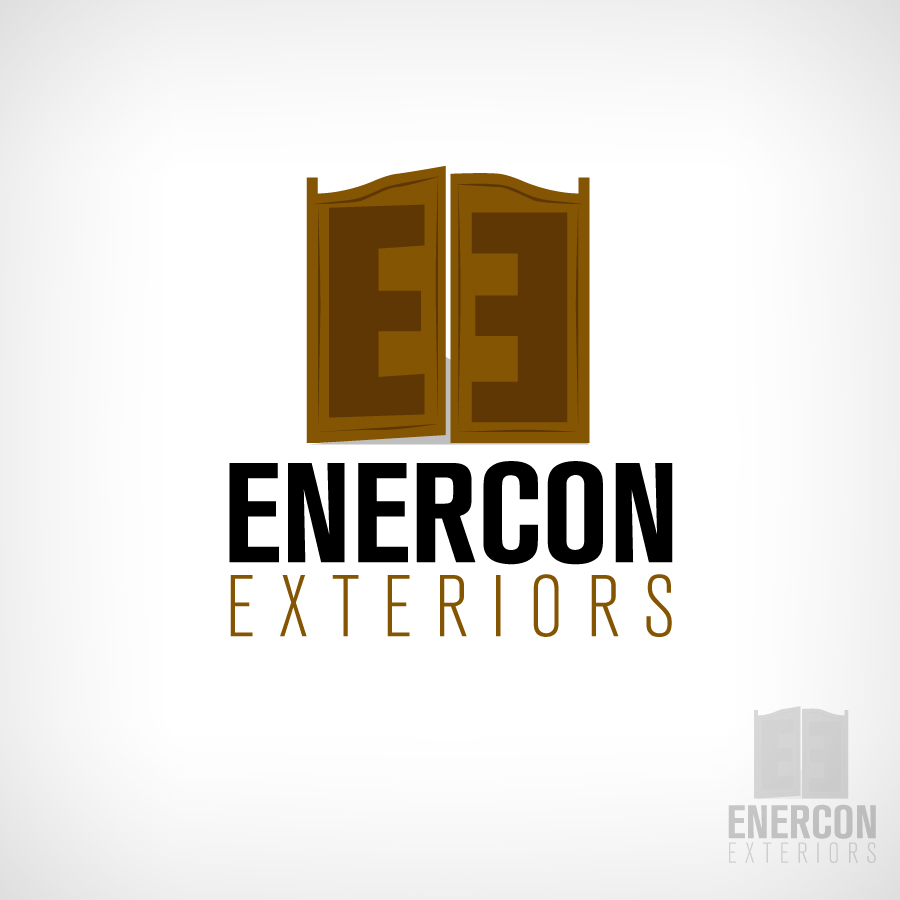 Logo Design by JoshuaCaleb - Entry No. 60 in the Logo Design Contest Enercon Exteriors.