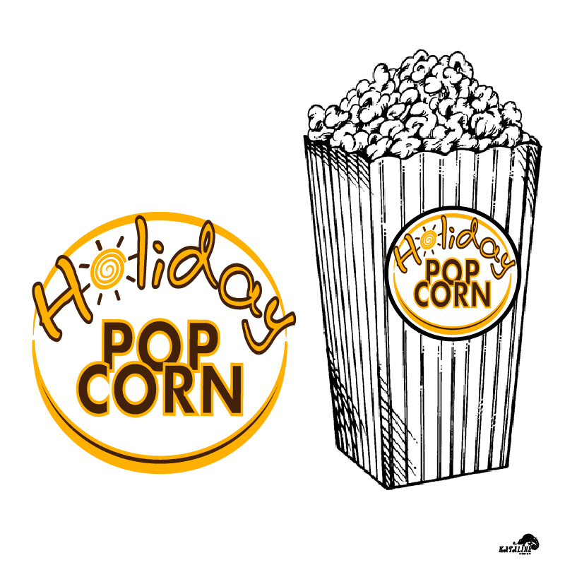 Logo Design by KATAline - Entry No. 22 in the Logo Design Contest Holiday Popcorn.